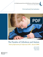 The Paradox of Giftedness and Autism