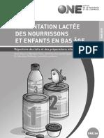 Alimentation Lactée Des Nourrissons Et Enfants en Bas Âge