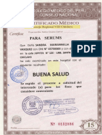 Certificado Medico 1