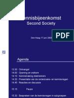Presentatie Kennisbijeenkomst Second Society