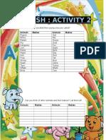 ENGLISH Activities 2