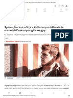 Syncro, La Casa Editrice Italiana Specializzata in Romanzi d'Amore Per Giovani Gay