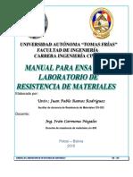 Manual de Laboratorio Resistencia de Materiales