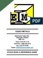Essex Metals Stock Book