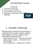 The semantics of morphological relations