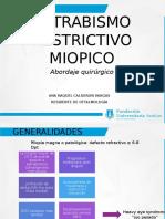 Miopia Patologica y Estrabismo