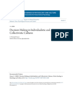 Decision Making in Individualistic and Collectivistic Cultures