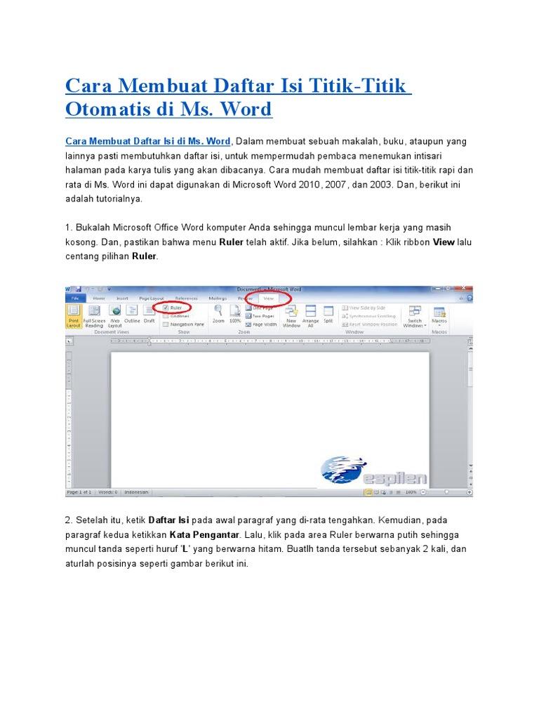 cara membuat buku di microsoft word 2010