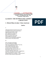 3 Sesión - Hyphenated Americans Poems. a Selection