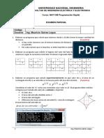 Examen Parcial Programación Digital FIEE UNI