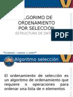 Algoritmo de ordenamiento por seleccion