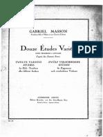 Douze Études Variées - Gabriel Masson