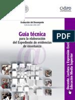 18 - Guía Técnica. Expediente de Evidencias de Enseñanza. Docente. Lectura y Expresi