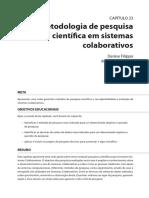Metodologia de Pesquisa Científica Em Sistemas Colaborativos