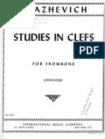 Blazhevich - Studies in Clefs - For Trombone