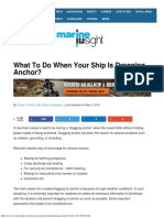 What to Do When Your Ship is Dragging Anchor