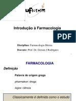 Introdução à Farmacologia-Alvo e Indústria