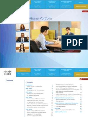 Cisco IP Phone Portfolio   Voice Over Ip   Telephone