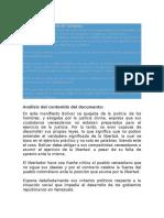Análisis Del Manifiesto de Carúpano