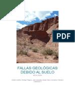 Fallas Geológicas Debido Al Suelo