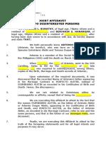 Joint Affidavit - Artemio (Father's Name)