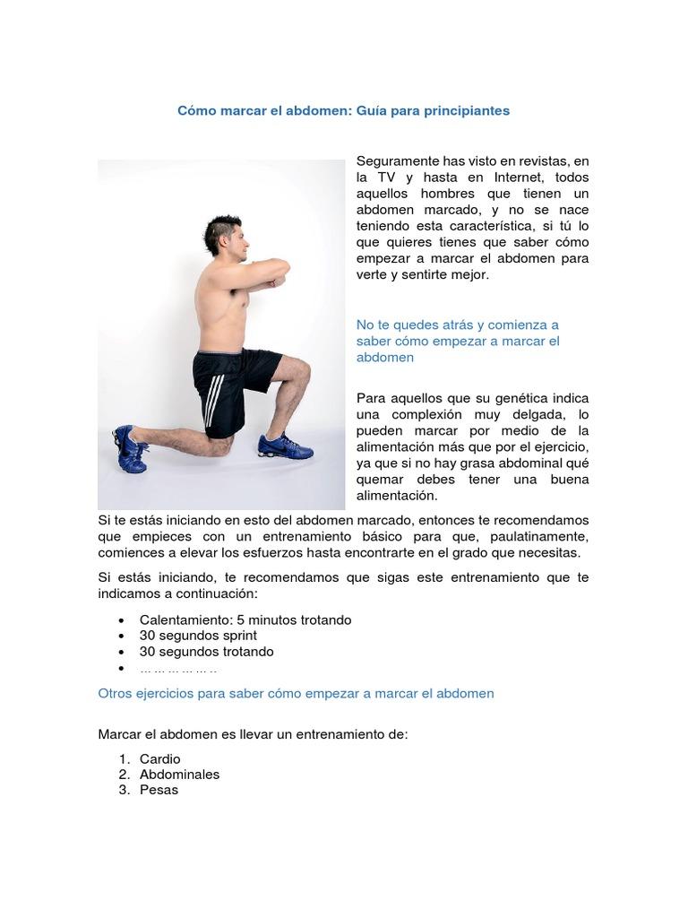 Ejercicios para marcar la v del abdomen hombres
