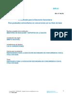 Res. 301-16-Profesorado Para La Educación Secundaria