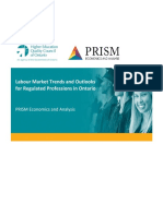 Labour Market Trends and Outlooks for Regulated Professions in Ontario