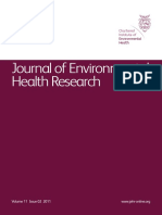 Journal of Environmental Health Research Volume 11 Issue 02