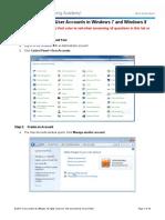 Lab 6.1.2.3 - Create User Accounts in Windows 7 and Windows 8.1