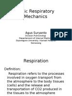 Basic Respiratory Mechanics(Dr Arif)