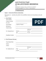 Form 1 Permohonan Kredensialing