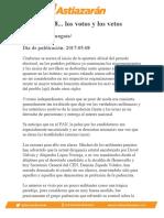 Sonora2018... los votos y los vetos