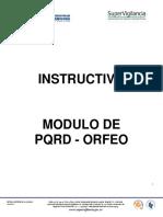 Instructivo Pqrd - Orfeo