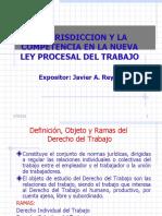 La Jurisdiccion y La  Competencia - Nueva Ley Procesal Del Trabajo (1)
