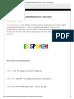 Persamaan Eksponen dan Contoh Soal ~ Rumus Dasar Matematika