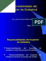 Responsabilidades Del Inspector de Soldadura
