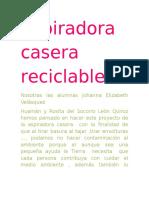 Aspiradora Casera Reciclable