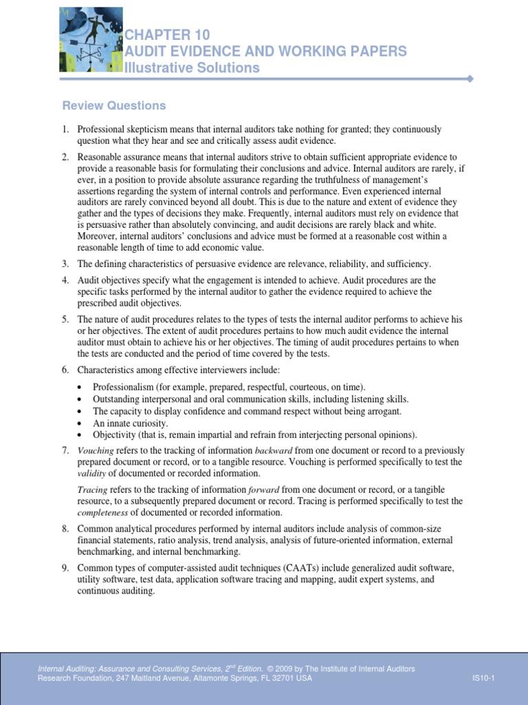 Chapter 10 illustrative solutionspdf internal audit audit fandeluxe Images