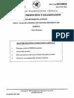 CAPE Env. Science 2006 U1 P1-1