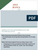 5. Hidrologi Lahan Rawa I
