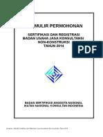 Formulir Permohonan Sertifikasi Nonkonstruksi