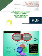 Implementasi Asuhan Terintegrasi Dalam Dokumen Rekam Medis,1 - Dr. Djoni D