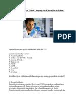 Perlunya Pemeriksaan Darah Lengkap Dan Kimia Darah Dalam Tubuh