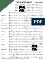 YIN YANG SERENADE by Jacon de Haan- Score and Parts