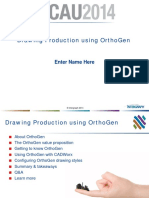 Drawing Production Using OrthoGen