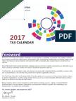 2017 Pa Gt e Tax Calendar