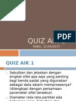 Quiz Aik 1 Kls a n b