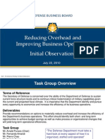 Overhead Task Group Presentation