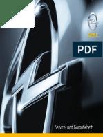 Opel Service - Und Garantieheft (Stand 08.2008)